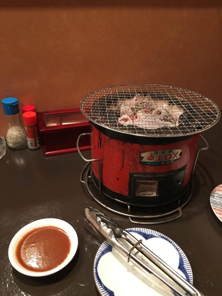 平塚の焼肉屋天の炭火セット