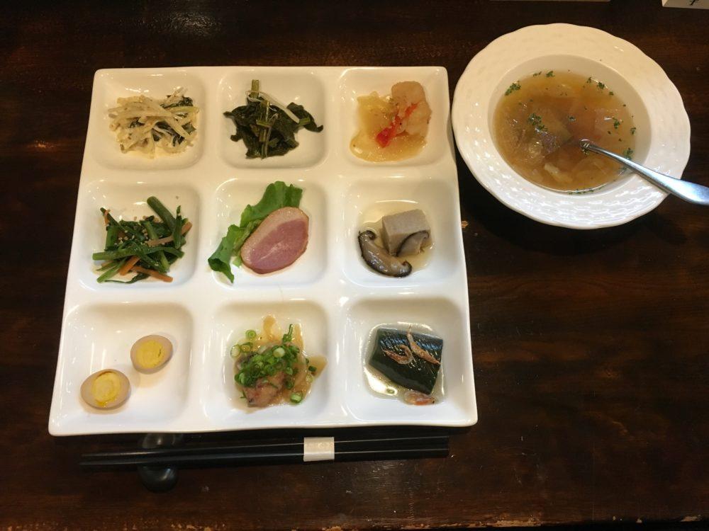 幸の羽 前菜とスープ