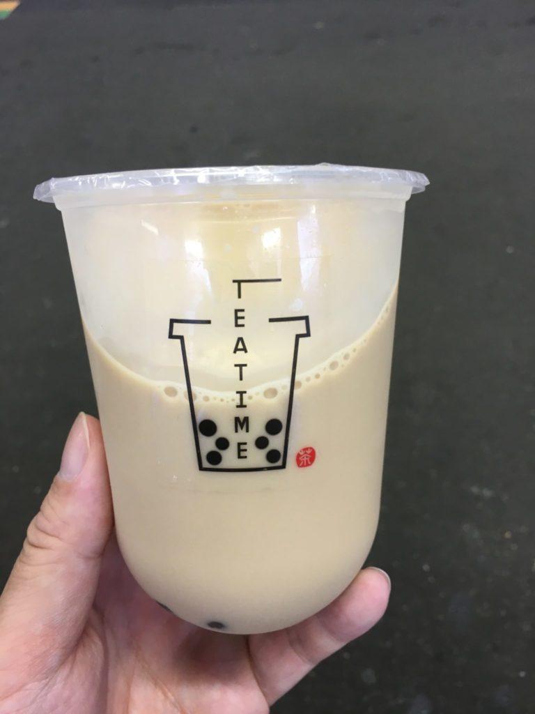 tea time 平塚 タピオカミルクティー