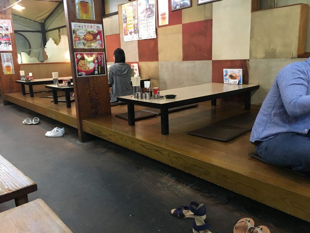 サイカラーメン橿原店の店内 座敷